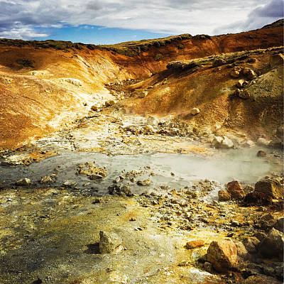 Landscapes Wall Art - Photograph - Geothermal Area In Reykjanes Iceland by Matthias Hauser