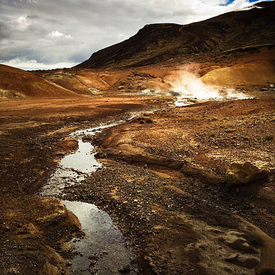 Landscapes Wall Art - Photograph - Geothermal Area Krysuvik In Iceland by Matthias Hauser