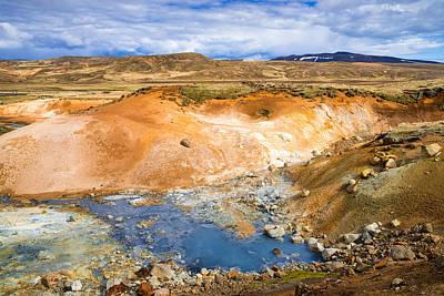 Photograph - Geothermal Area Krysuvik Seltun Iceland by Matthias Hauser