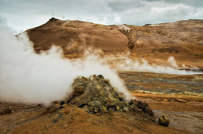 Geothermal Area Namafjall In Iceland Art Print by Matthias Hauser