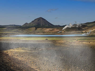 Iceland Photograph - Geothermal Power Iceland  by Elizabetha Fox
