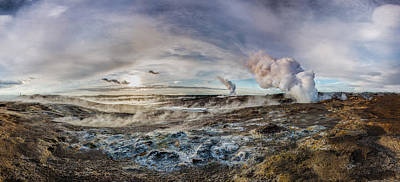 Photograph - Geothermal Sunsets by Sigurdur William Brynjarsson