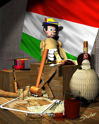 Digital Art - Geppettos Workbench-the Creation Of Pinocchio by Stuart Stone