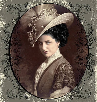 Digital Art - Geraldine Farrar by Robert G Kernodle