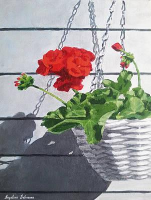 Geranium Art Print by Angelina Sofronova