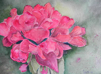 Painting - Geranium by Christine Lathrop