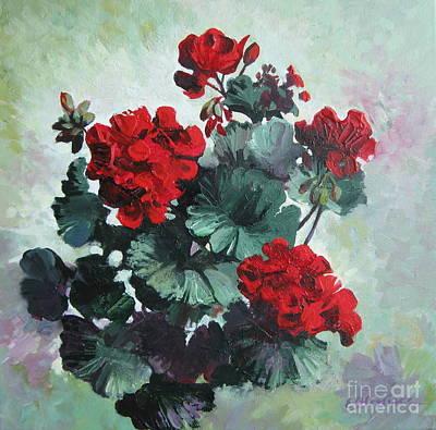 Painting - Geranium by Elena Oleniuc