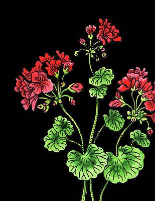 Painting - Geranium Flower Watercolour  by Irina Sztukowski