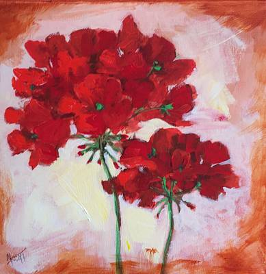 Painting - Geranium by Mary Scott