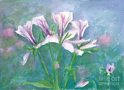 Painting - Geranium Mist by Cathie Richardson