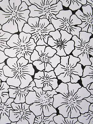 Passionate Drawing - Geranium Pattern by Rosita Larsson