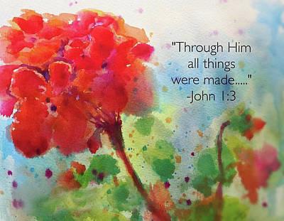 Painting - Geranium Praises by Susan Jenkins