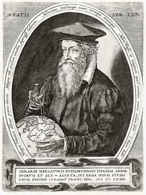 Flemish Drawing - Gerardus Mercator 1512 To 1594 Flemish by Vintage Design Pics