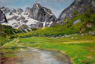 Painting - Gerbaje - Ne Mrekulline E Quajtur Guci by Sefedin Stafa