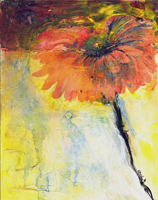 Gerber Daisy Painting - Gerber Daisy 1 by Gary Deslauriers