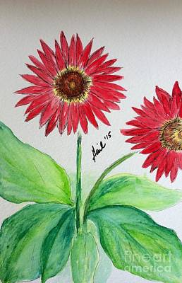 Floral Painting - Gerber Daisy Red by Gail Nandlal