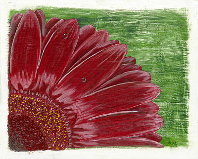 Painting - Gerber Daisy- Red by Susan Schmitz