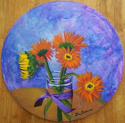 Painting - Gerber by Liz Adkinson