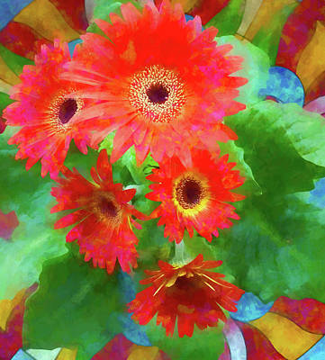 Photograph - Gerbera Daisies by Denise Beverly