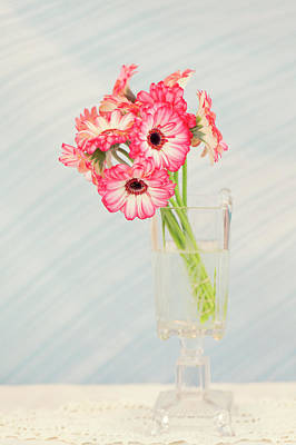 Photograph - Gerbera Daisies In Footed Vase by Susan Gary