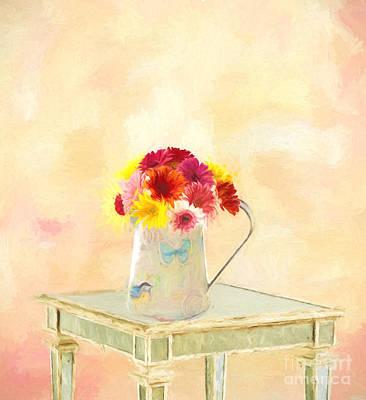 Gerbera Daisies  Art Print by Jim  Hatch