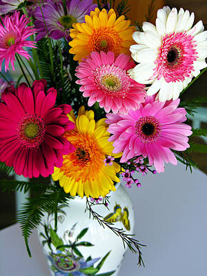 Gerbera Daisy Bouquet Art Print by Marilyn Hunt