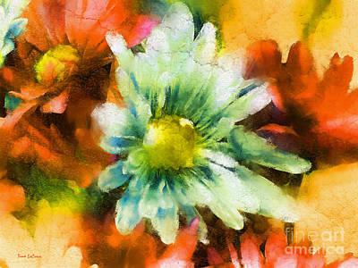 Digital Art - Gerbera Daisy Impressionism by Tina LeCour