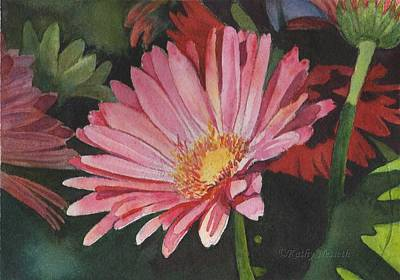 Painting - Gerbera Daisy by Kathy Nesseth