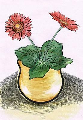 Painting - Gerbera Flowers by Teresa White