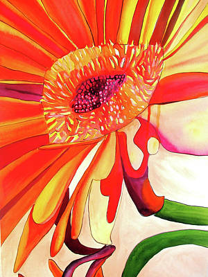 Painting - Gerbera by Sacha Grossel