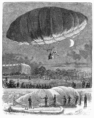 German Airship, 1884 Art Print