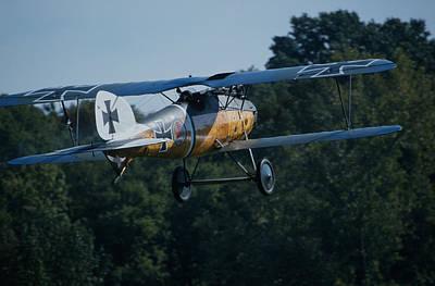 Photograph - German Albatros D.iii In Flight by John Clark