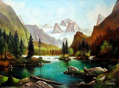 Painting - German Alps by John Lyes