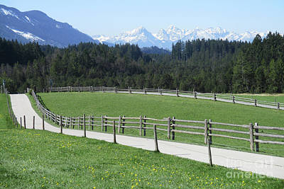 Photograph - German Alps by Randall Weidner