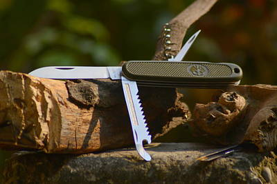 Photograph - German Army Knife by Salman Ravish