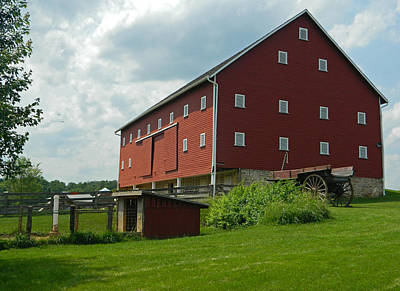 Photograph - Historic German Bank Barn - Maryland by Emmy Vickers