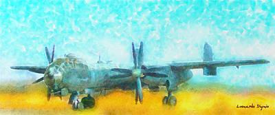 Landing Digital Art - German Bmw Hutter Hu 324 - Pa by Leonardo Digenio