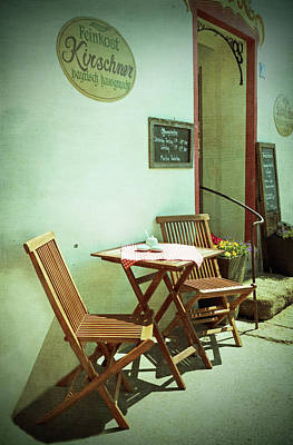 Bachelor Pad Art Photograph - German Cafe by Brooke T Ryan