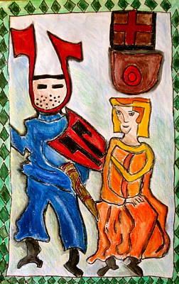German Castle Painting Art Print by Susan Stader