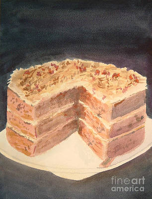 Painting - German Chocolate Cake by Paul Thompson