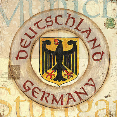 City Scape Painting - German Coat Of Arms by Debbie DeWitt