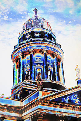 Berlin Mixed Media - German Dome by Nica Art Studio