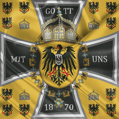 Digital Art - German Emperor Standard 1888-1918 by Serge Averbukh