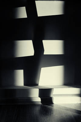 Photograph - German Expressionism Experiment Abstract Shadows by John Williams