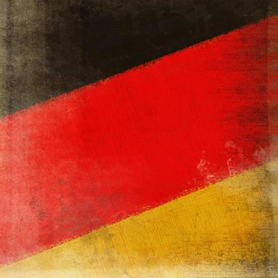Art Map Photograph - German Flag by Setsiri Silapasuwanchai