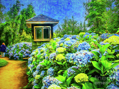 Digital Art - German Garden by Rick Bragan