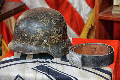 Photograph -  German Helmet by Dennis Dugan