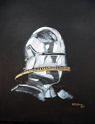 Painting - German Helmet by Richard Le Page
