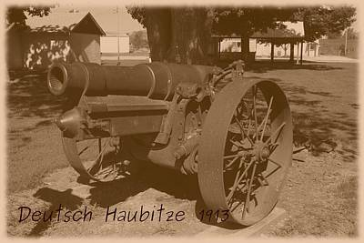 Photograph - German Howitzer 1913 by David Dunham