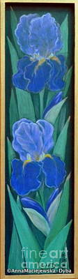 Painting - German Iris by Anna Folkartanna Maciejewska-Dyba